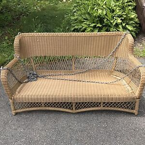 Plastic Wicker/Rattan hanging love seat - chair! Fits two people