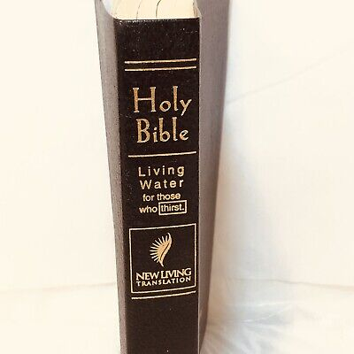 Leather Holy Bible New Living Translation Living Water Ed Tyndale Gilt Page Ends](Living Water Scripture)
