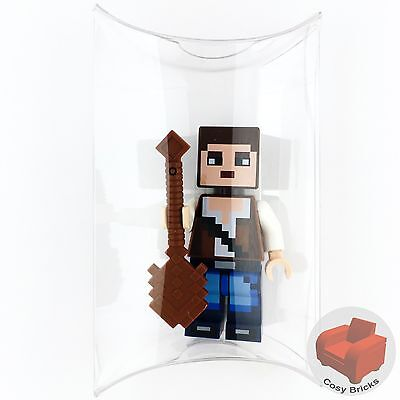 Lego Minecraft Skin 3 Minifigure   Pixelated Blue Jeans   New