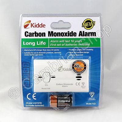 Kidde Carbon Monoxide CO Alarm Detector 7CO 10 Year Long Life Gas Safety Boiler