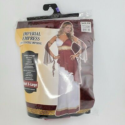 Imperial Roman Empress Womans Halloween Costume Adult Size XLarge XL