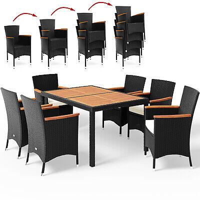 Poly Rattan Gartenmöbel Sitzgruppe Holz Sitzgarnitur Essgruppe Garten Set Lounge