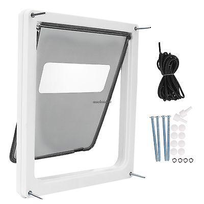 "Large Dog Door Pet Door Extra Large 17"" x 14"" Flap Telescoping Frame Gate Secure"
