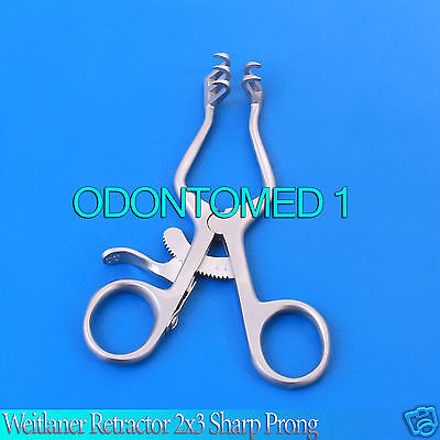 Weitlaner Retractor 4 Sharp 2x3 Surgical Veterinary Instruments