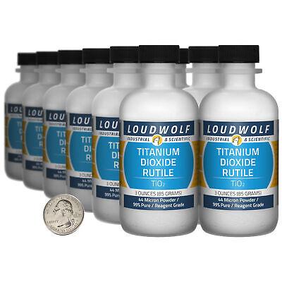 Titanium Dioxide Rutile 2.3 Lbs 12 Bottles 99 Reagent Grade