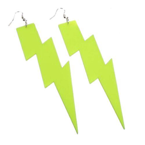 Ride the Neon Lightning Earrings