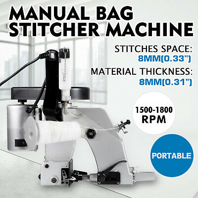 110v Industrial Portable Electric Sealing Bag Stitching Closer Sewing Machine