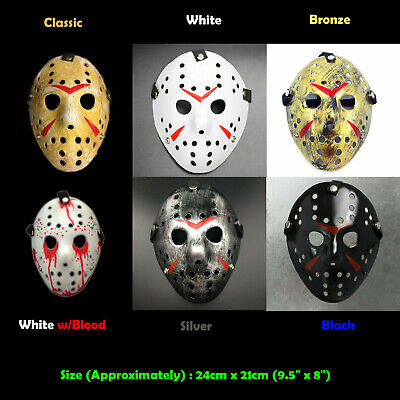 Scary Jason Costume (Horror Scary Hockey Mask Freddy VS Jason Voorhees Friday Cosplay Costume)