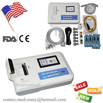 3 Channel Portable 3.5 Color Lcd Digital Electrocardiograph Ecg Ekg Machine Us