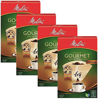 MELITTA 1x4 Gourmet Intense Coffee Maker Machine Filter Paper Cone Filters x 320