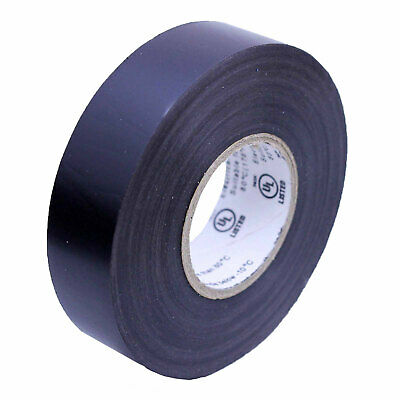 1 Roll Black Electrical Insulating Tape Vinyl 34 Inch 20 Yards Ul Listed