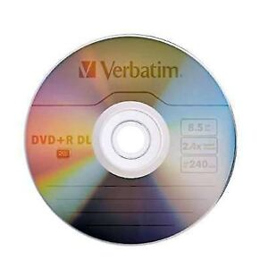 10-Vebatim-8x-Dual-Layer-DVD-R-DL-Disc-8-5Gb-In-Sleaves