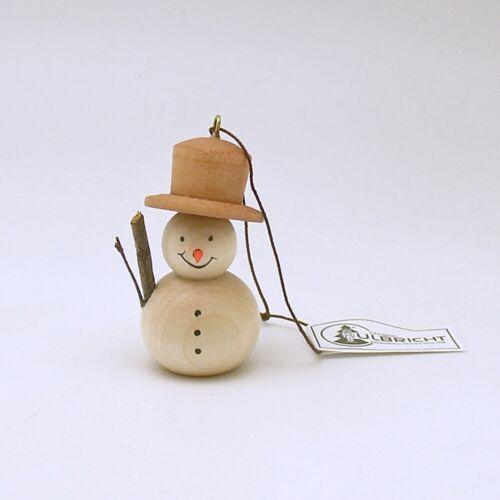 Wood Snowman Christmas Ornament Erzgebirge Germany