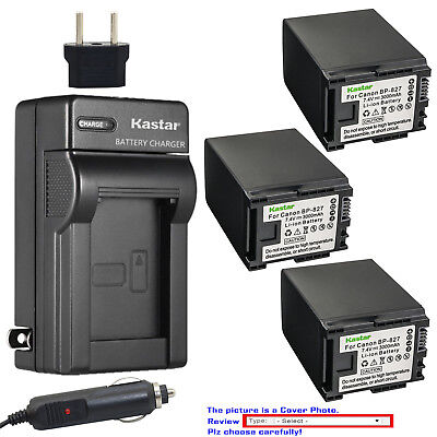 Kastar Battery AC Charger for Canon BP-827 CG-800 & Canon HF G20 Camcorder