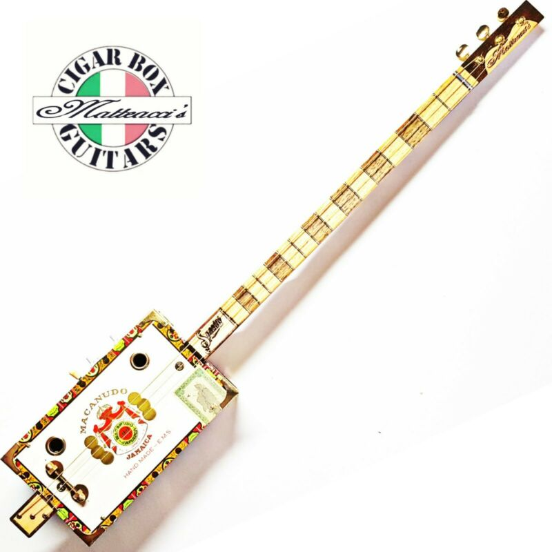 Cigar Box Guitar Macanudo 3 TP/SC Robert Matteacci's.