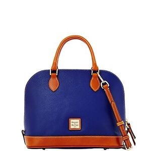 Dooney & Bourke Pebble Grain Zip Zip Satchel, Cobalt