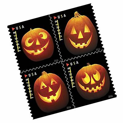 Jack o Lanterns USPS Forever First Class Postage Stamp U.S. Halloween Autumn ...