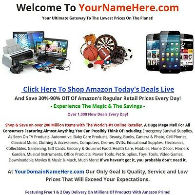 New For 2020 - Amazon Affiliate Website Business For Sale - 200 Million Items
