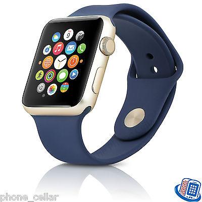 Series 2 Apple Watch 42mm Gold Aluminum Case Midnight Blue Sport Band MQ152LL/A
