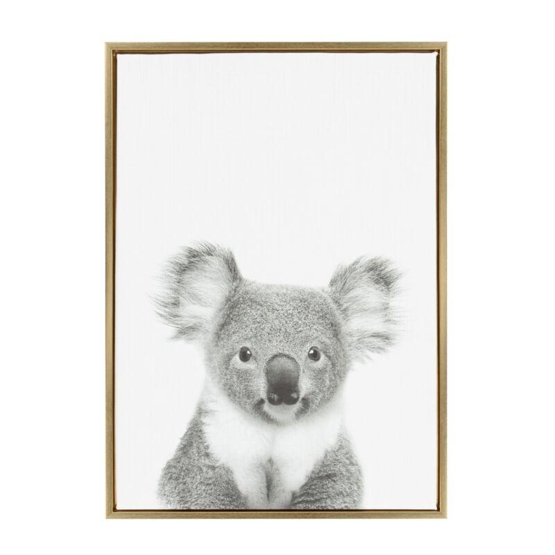 Sylvie Koala II Framed Canvas Wall Art by Simon Te Tai, Gold  N/A