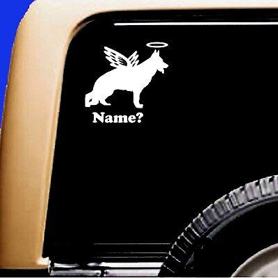 Dog Memorial German Shepherd 1 Angel Decal Sticker RV Truck Original Design - CA$6.00