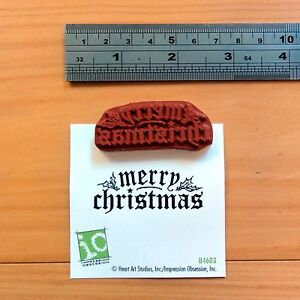 IMPRESSION OBSESSION MERRY CHRISTMAS #3 SENTIMENT CLING STAMP - BNIP