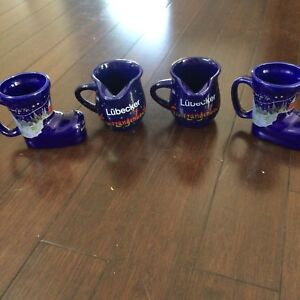 Set of 2 coffee mugs and 2 creamers by KÖSSINGER AG