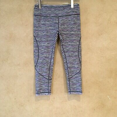 Zella Size Medium Leggings Yoga Gym Crop Multicolor Midrise Pocket Heathered