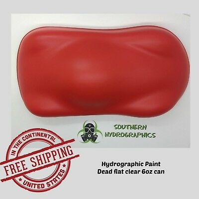 Hydrographic Film Hydro Dip Kit 6oz Aerosol Paint Clear Coat Dead Flat Clear