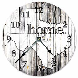 TEXAS RUSTIC HOME STATE CLOCK - Large 10.5 Wall Clock - 2253