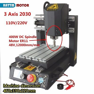 2030 400w Dc Usb Mini Desktop Milling Engraving Machine 3 Axis Steel Cnc Router