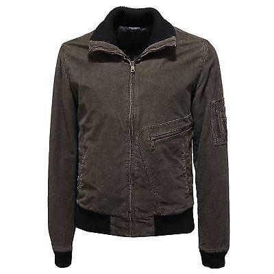 90975 giubbotto DOLCE GABBANA D G velluto brown giacche giubbino ... c4b4d1e0e0d