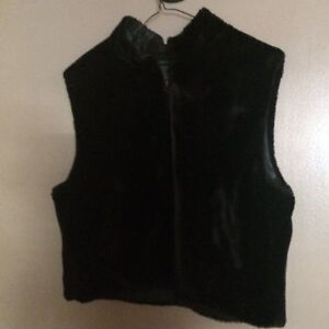 Faux fur vest size large