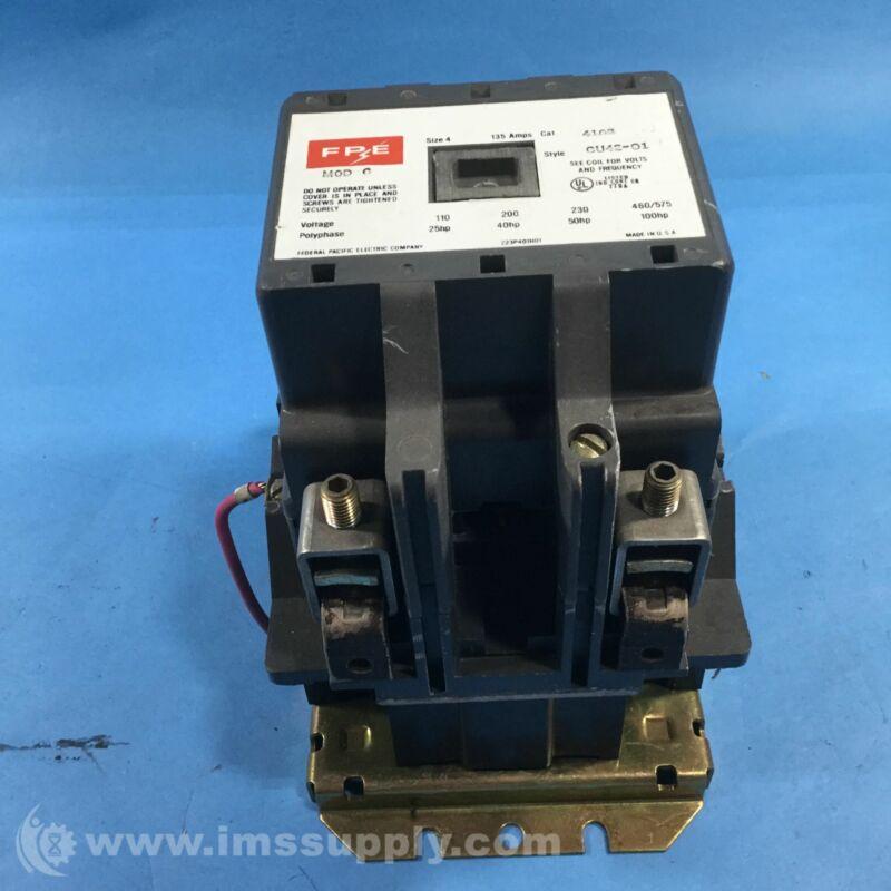 Federal Pacific 4102CU42-01 Motor Starter, 110-575 Volt, 135 Amp USIP