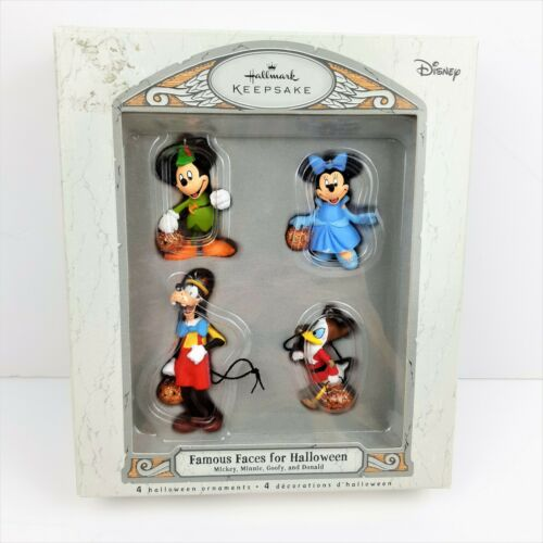 Hallmark Keepsake Miniature Disney Ornaments Set Famous Faces for Halloween 2007