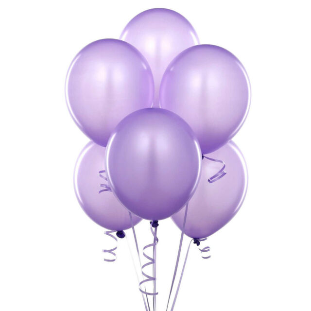 50 PACK OF 12 INCHES LATEX PURPLE BALLOONS PARTY WEDDING BIRTHDAY ANNIVERSARY