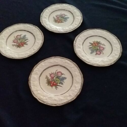 Crown Ducal Florentine Bread & Butter Plates Set of 4 Made in England