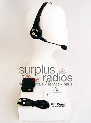 Bluetooth Single Ear Headset For Cell Phone Motorola Radio Cp200 Xpr6550 Ht1250