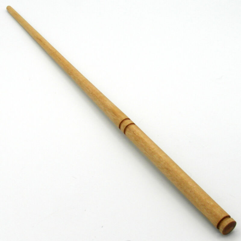 """15"""" Hand Turned Ron Weasley Almond Wood Magic Wizards Wand Wicca w/ Velvet Bag"""
