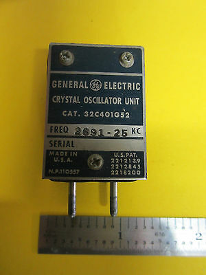 General Electric Quartz Crystal Oscillator Frequency 2691.25 Kc Rare