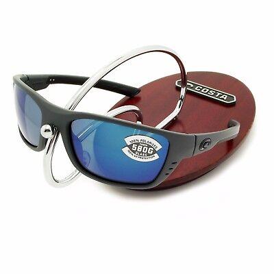 2a48b88e06c69 NEW Costa Del Mar WHITETIP Matte Gray   580 Blue Mirror Glass 580G