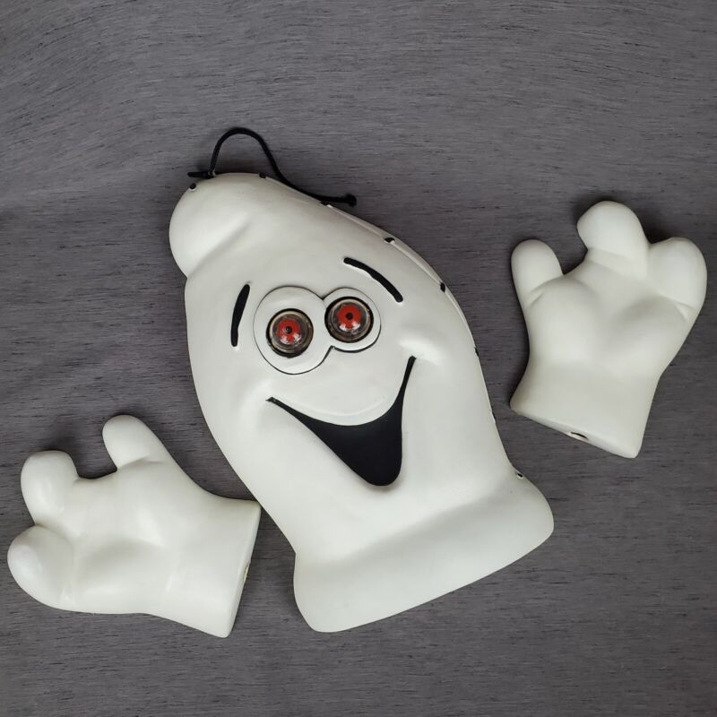 Vintage Blow Mold Halloween Ghost 3-Piece Light Hanging Wall Decoration 1997