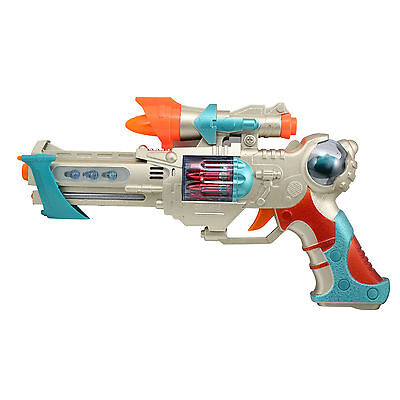 Kids Action Toy Gun with Lights and Sounds for Children, 12-Inches