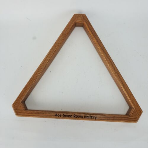 Solid Wood Billiard 8-Ball Triangle Pool Ball Rack Ace Game Room Gallery
