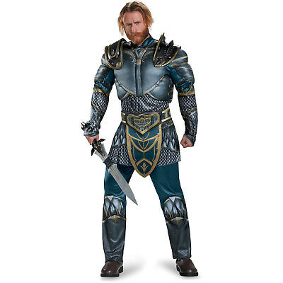 Warcraft Lothar Muscle Costume Mens Adult XL Halloween Warrior Knight Crusader (Halloween Knight Costume)
