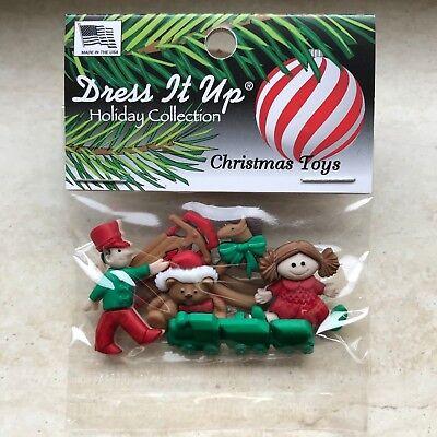 Dress It Up, Christmas Toys, Spielsachen, Weihnachten, Knöpfe Buttons,