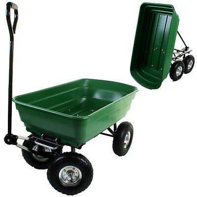 Garden Dump Cart Tipping Wheelbarrow Sack Truck Tipper Trolley Trailer Wheels
