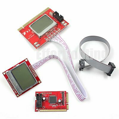 PTI8 Motherboard Analyzer Diagnostic Post Test Card - Desktop Laptop Mini PCI-E