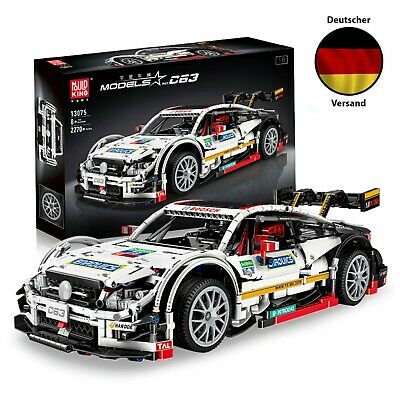 Mould King 13075 Technik Rennwagen Auto für Mercedes C63 AMG DTM 2270 Teile 1:8