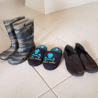 boys rubber boots/wellies, slippers and shoes size 1